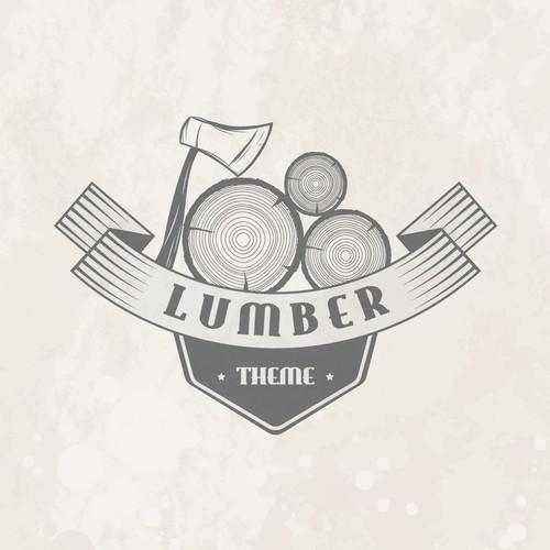 Lumber Theme Logo Design