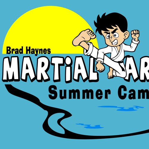 Make a fun summer camp shirt for karate kids!