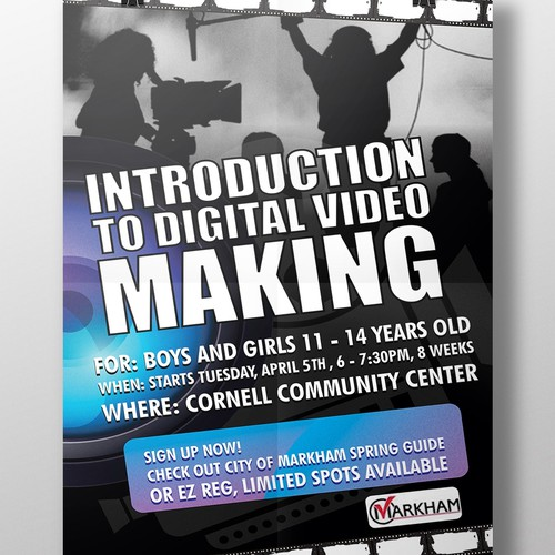 Poster Design for Digital Video Making course