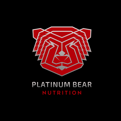 Kickass logo for Platinum Bear Nutrition!