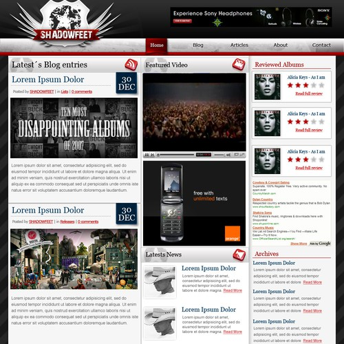 Online Magazine/Music Blog Design & Logo
