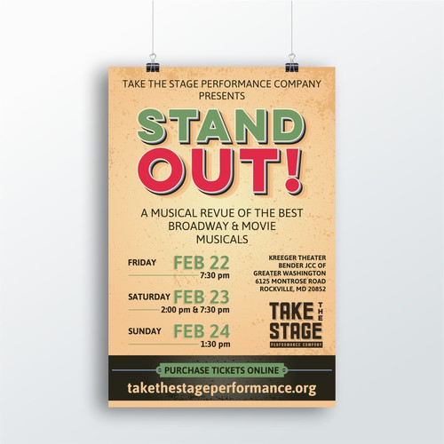 Poster for Teen Musical Theater Company Big Show