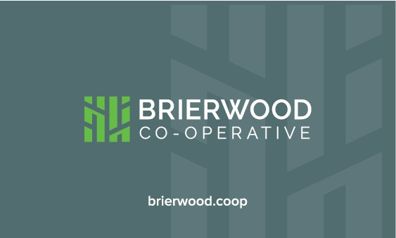 Design new business cards and letterhead for Brierwood Co-operative!