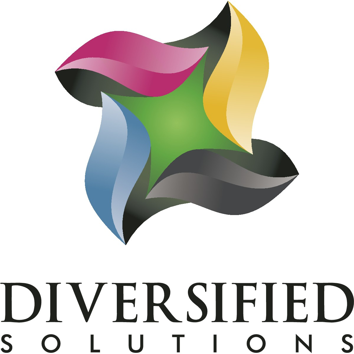 Create a more modern, geometric logo for Diversified Solutions with Business Card.