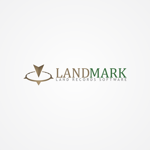 simple and clean logo for LandMark