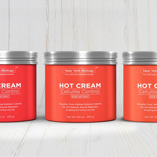 Create an Elegant, Clean and Sleek Label for Cellulite Skin Cream