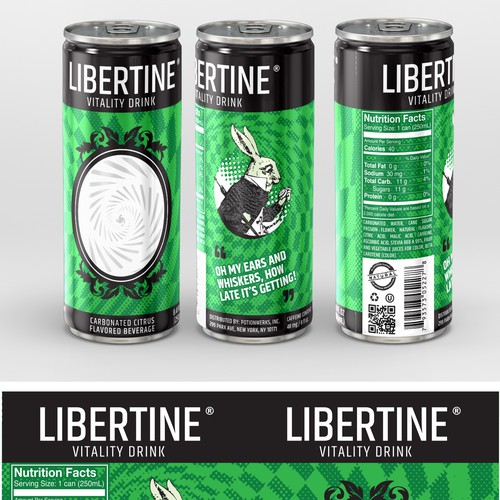 Libertine Vitality Drink Label