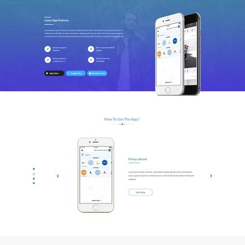 LunarApp - Landing Page Design