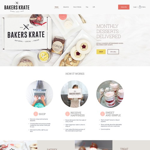 Bakers Krate - Website