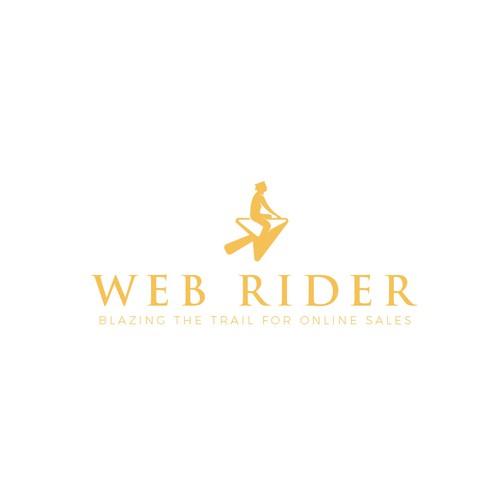 Simple logo design concept for Web rider.