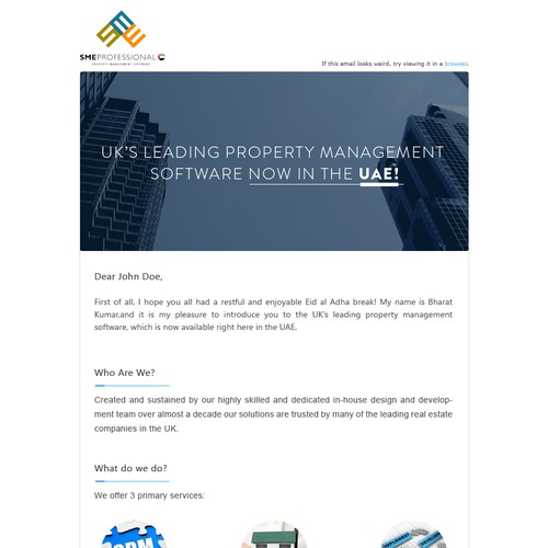 Email Blast - Modern and Interactive Design needed