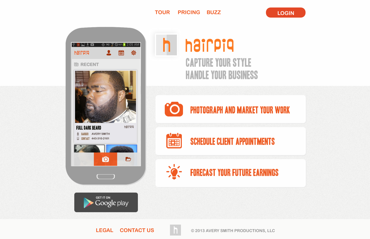 Create a winning sales site design for an award winning mobile app.