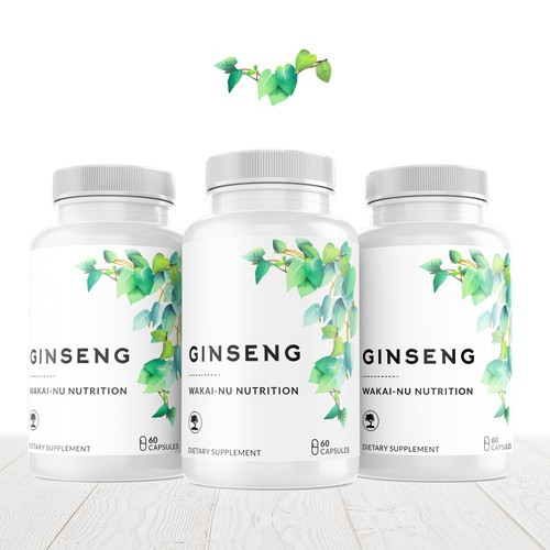 Product label design for dietary supplement.