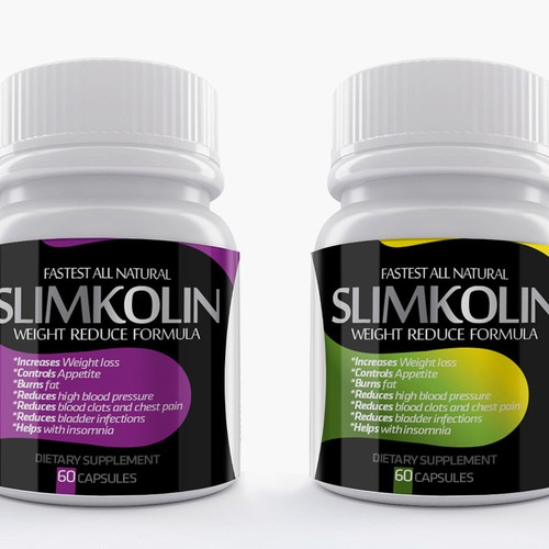 Energetic, simple yet impacting label required for Weight reduction capsules.