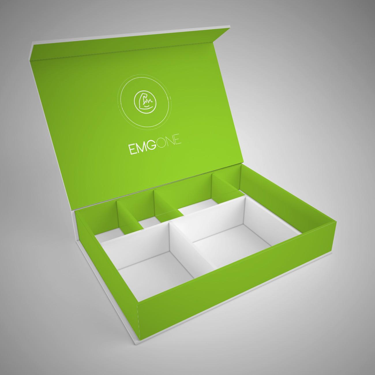 Diseña packaging para EmgOne, un sistema de rehabilitación portátil