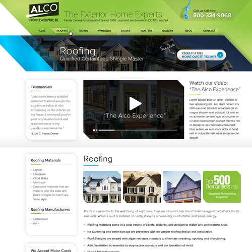 Create the new homepage for Alco Products
