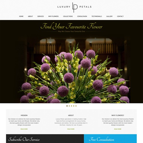 LUXURY FLOWER DELIVERY BRAND