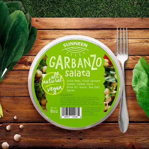 Garbanzo Salad label design concept
