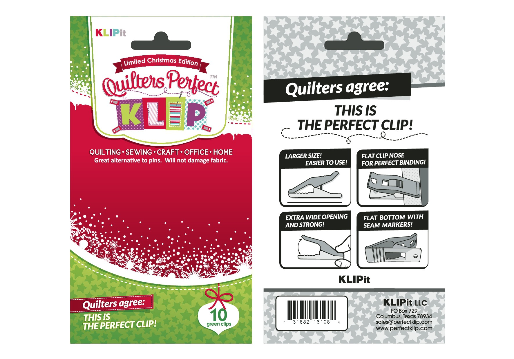 Christmas package for the Quilters Perfect Klip