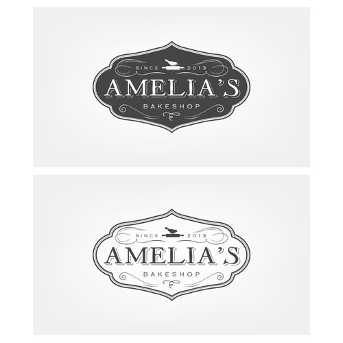 New logo and business card wanted for Amelia's bakeshop