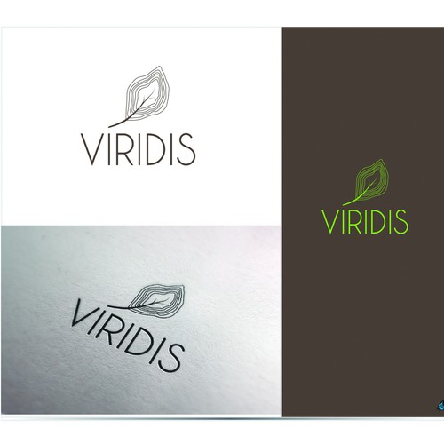 Create a ruggedly refined logo for Virids landscape architecture