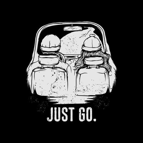 JUST GO. T-shirt for wanderlust