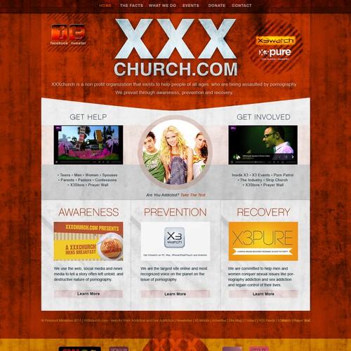 Create the next website design for XXXchurch.com