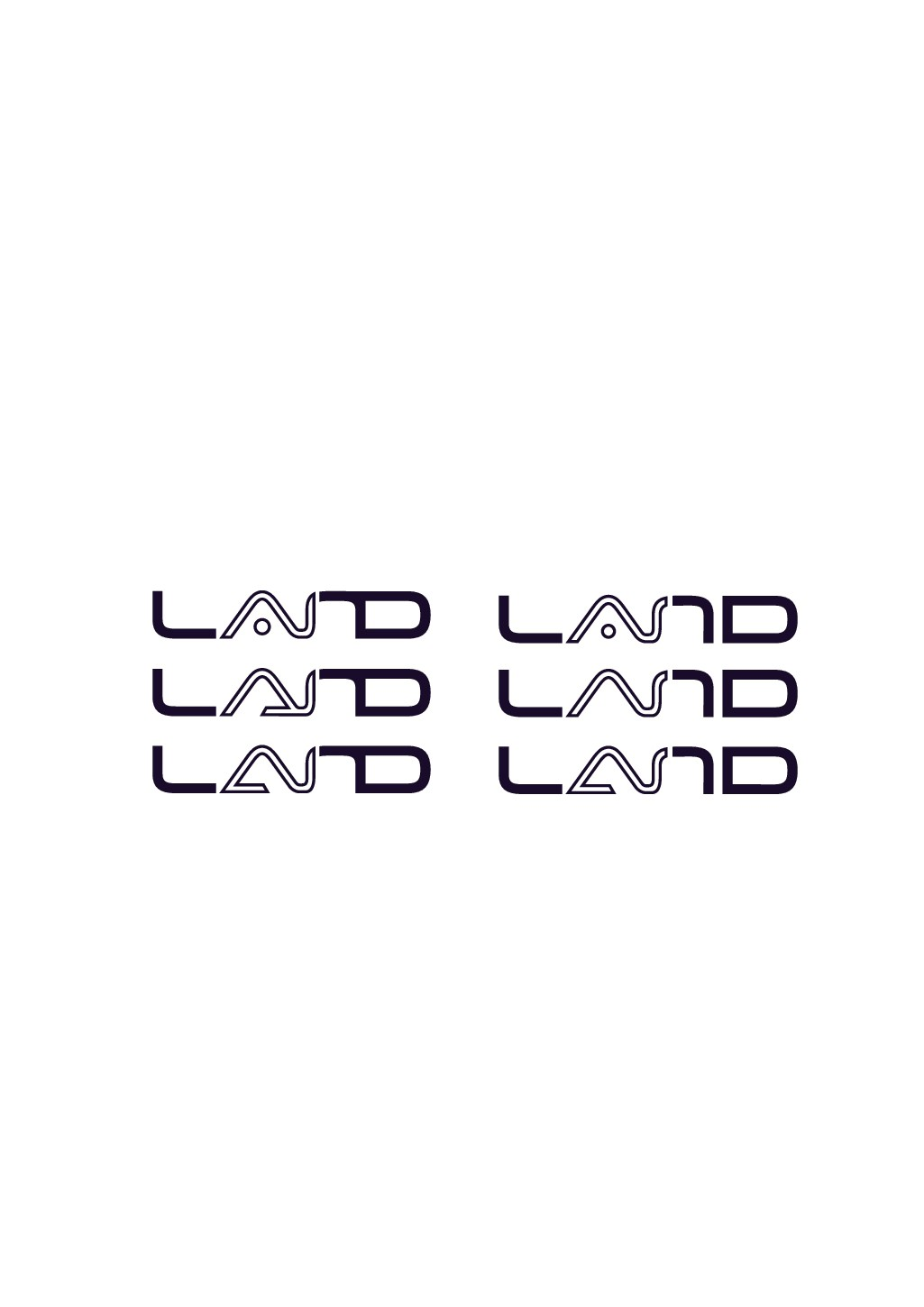 """Please design a logo of """"LAND"""". It is a smart software of AI"""