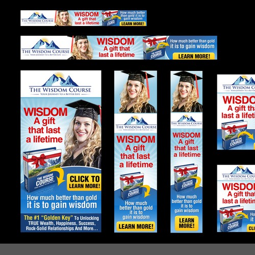 Create the next banner ad for TheWisdomCourse