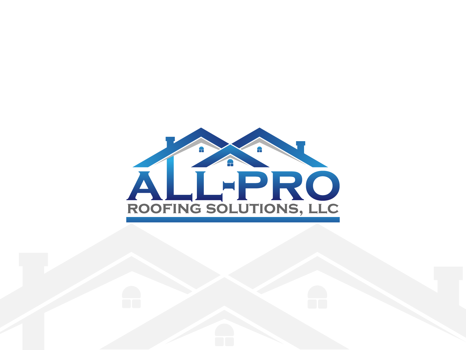Create a simple, modern, eye catchy logo for roofing business