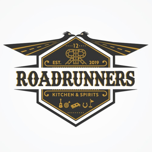 RoadRunners Logo - Restaurant / Bar in Texas