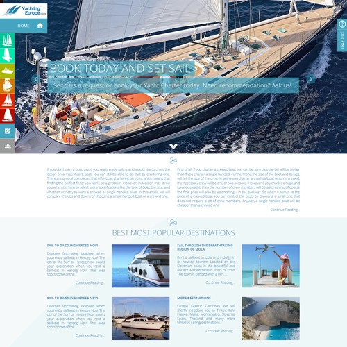 Yacht Booking Site