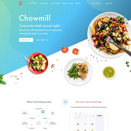 Food onePage design