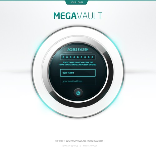 Create the next website design for www.megavault.com