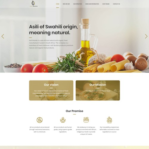 Natural oil landing page