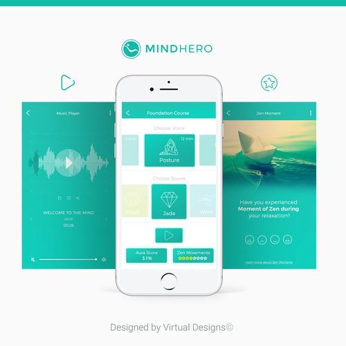 App Design for Mind Hero Mobile App