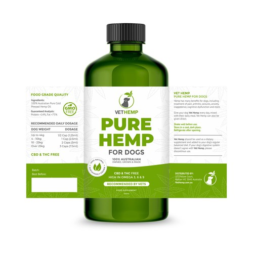 Organic Label Design for Pure Hemp for Dogs
