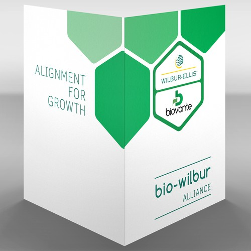 Marketing folder, product flyers, and keynote backgrounds for a Biovante