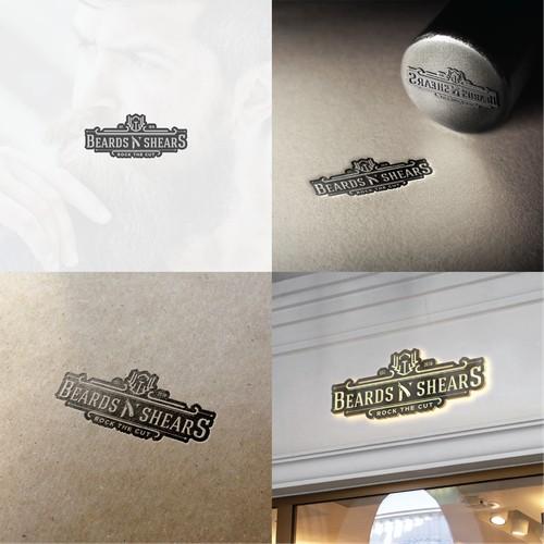 logo design for Vintage salon for men