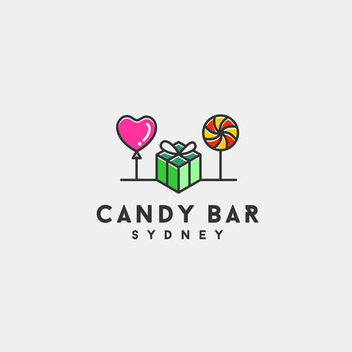 A logo design for confectionery and party supplies.