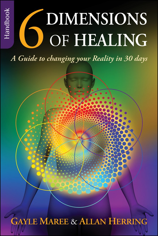 Create a bookcover for the 6 Dimensions of Healing
