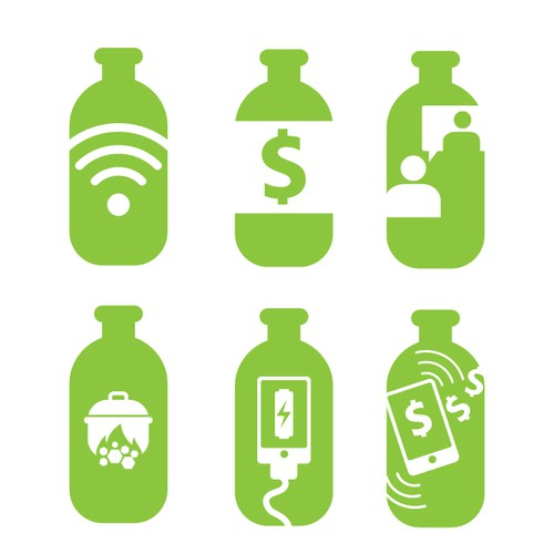 Symbols to Exchange Plastic Bottles for Various Items