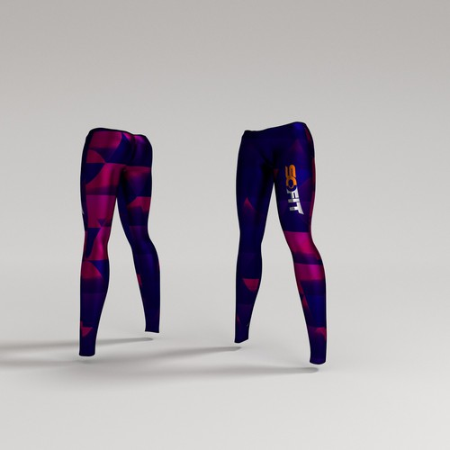 Fitness pants 3d design