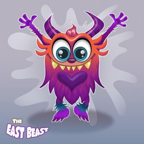 East Beast Character logo