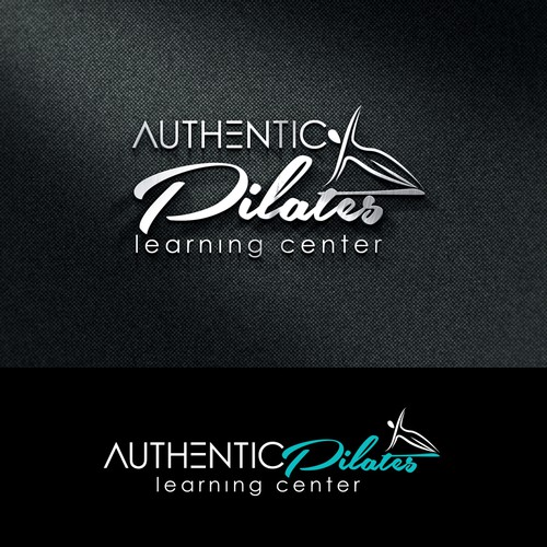 Create a design with an image of a Pilates posture illustration