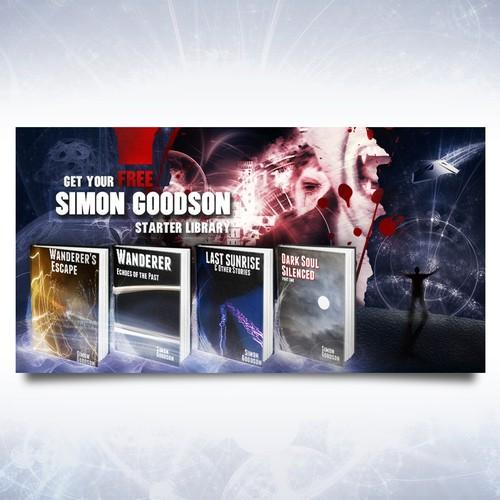 Facebook ad for sci fi/fantasy author