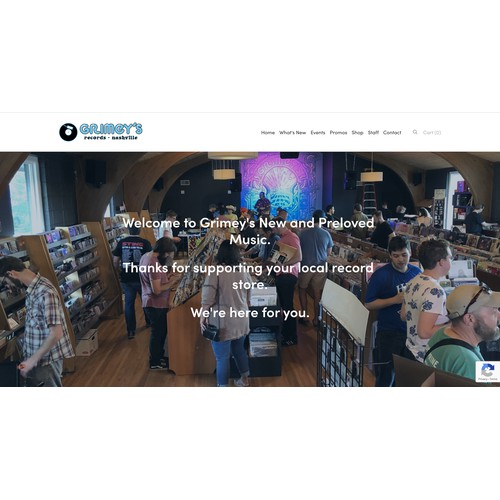 Squarespace redesign for esteemed Nashville record store