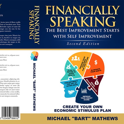 awesome eye catching financial education 3D book cover design for a POD book