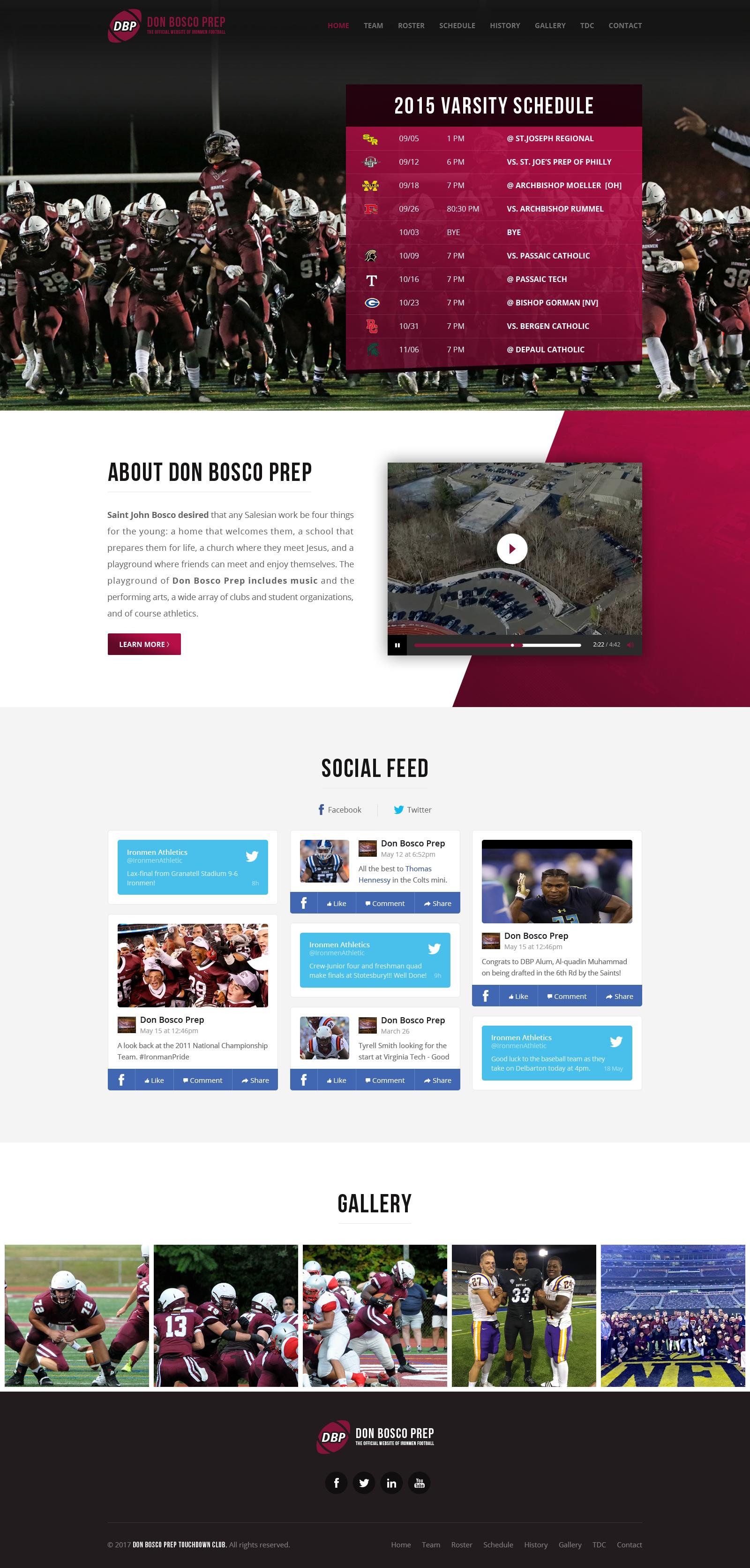 Don Bosco Prep Ironman Football Site