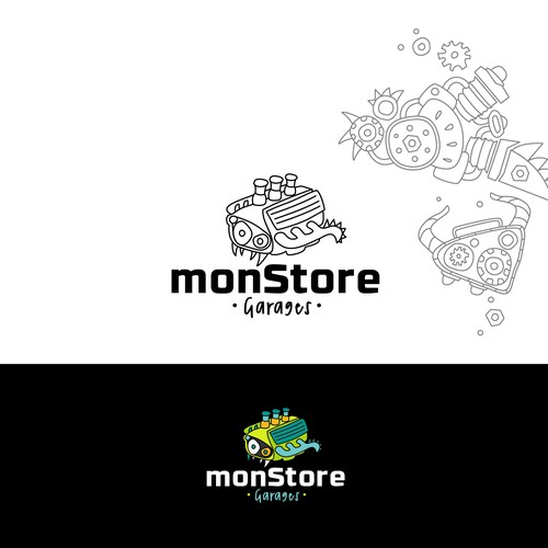 logo concept for monStore